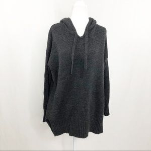 Amisu Oversized Hooded Poncho Sweater, Size Med